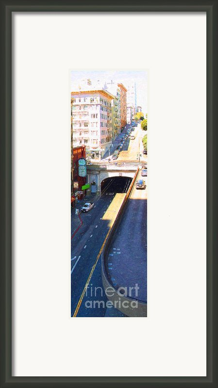 Stockton Street Tunnel In Heavy Shadow . Long Version Framed Print By Wingsdomain Art And Photography