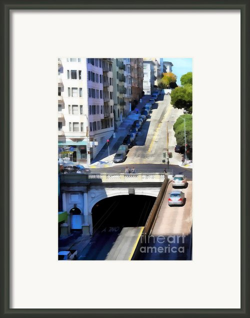 Stockton Street Tunnel In Hilly San Francisco . 7d7499 Framed Print By Wingsdomain Art And Photography