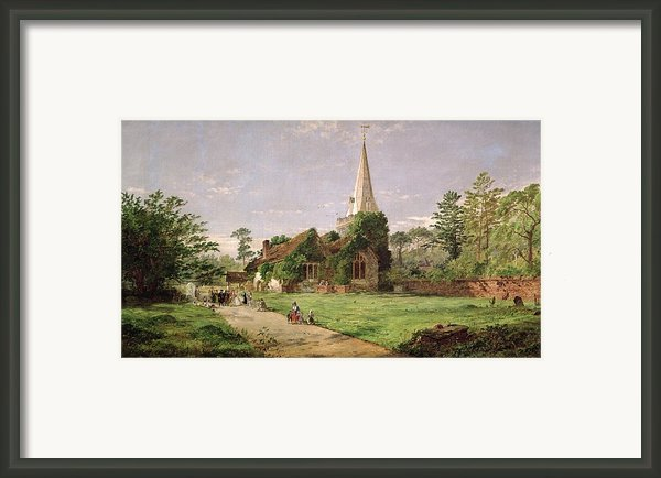 Stoke Poges Church Framed Print By Jasper Francis Cropsey