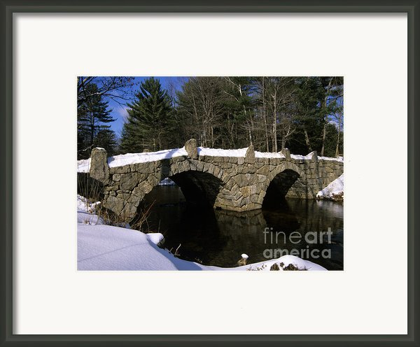 Stone Double Arched Bridge - Hillsborough New Hampshire Usa Framed Print By Erin Paul Donovan
