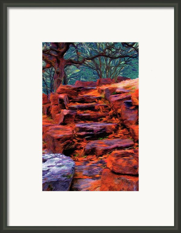 Stone Steps In Autumn Framed Print By Jeff Kolker