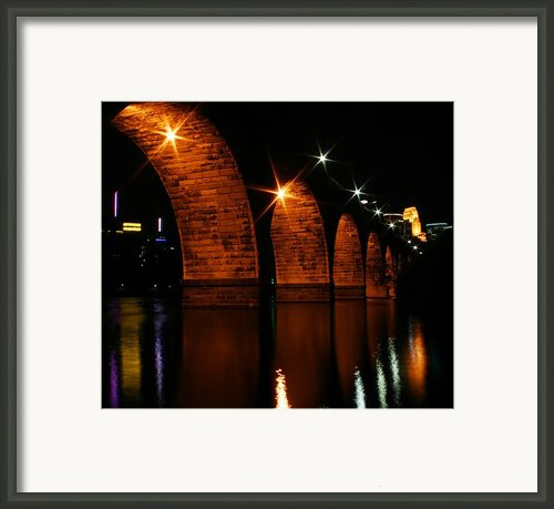 Stonearch Bridge - Minneapolis Framed Print By Angie Schutt