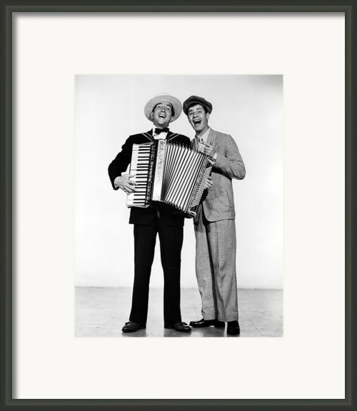 Stooge, Dean Martin, Jerry Lewis, 1952 Framed Print By Everett