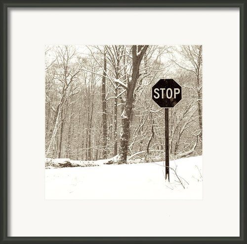Stop Snowing Framed Print By John Stephens