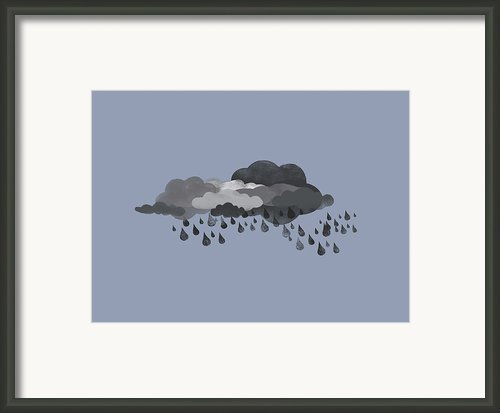 Storm Clouds And Rain Framed Print By Jutta Kuss