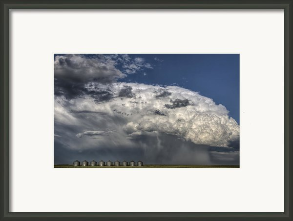 Storm Clouds Thunderhead Framed Print By Mark Duffy