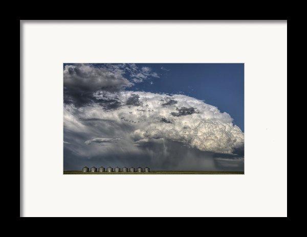 Storm Clouds Thunderhead Framed Print By Mark Duffy