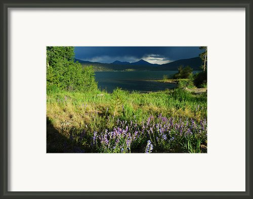 Storm In Dillon Framed Print By Lynn Bauer