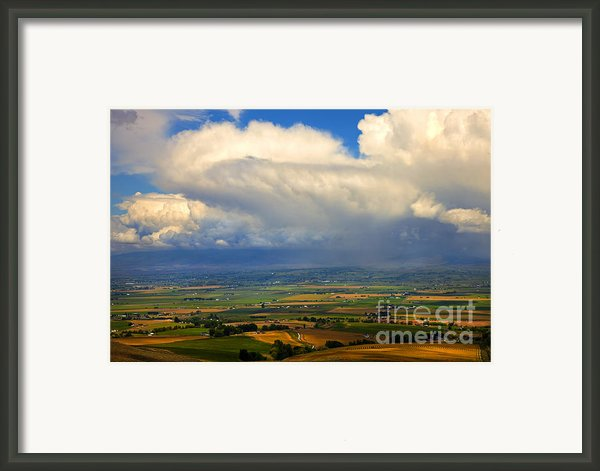 Storm Over The Kittitas Valley Framed Print By Mike  Dawson
