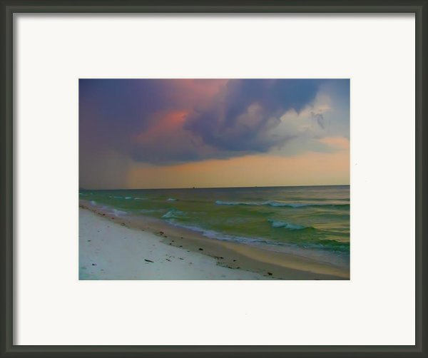 Storm Warning Framed Print By Bill Cannon