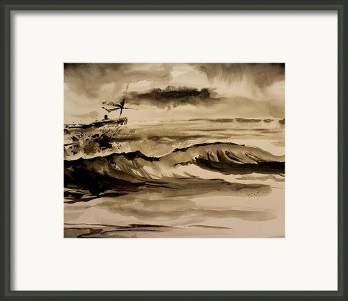 Stormy Arrival Framed Print By Scott Nelson