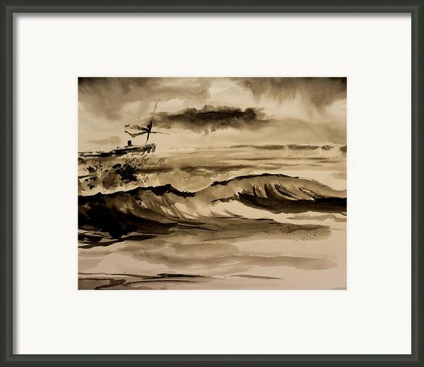 Stormy Arrival Framed Print By Scott Nelson
