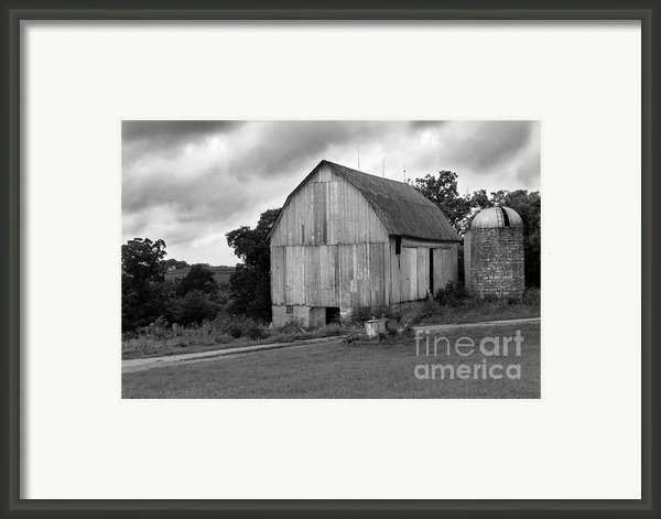 Stormy Barn Framed Print By Perry Webster