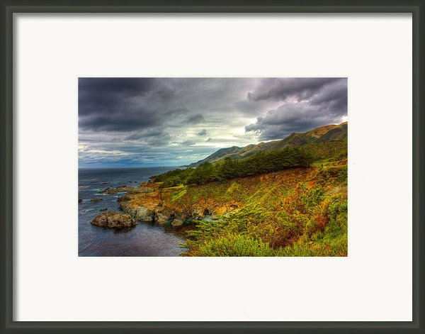 Stormy Coast Framed Print By Matt  Trimble