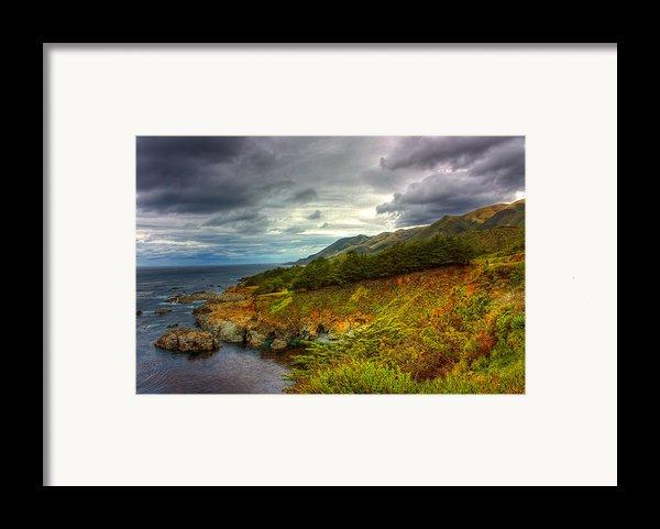 Stormy Coast Framed Print By Matt  Trimble