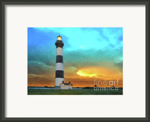 Stormy Sunrise Wc Framed Print By Dan Carmichael