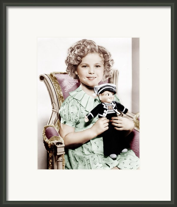 Stowaway, Shirley Temple, 1936 Framed Print By Everett