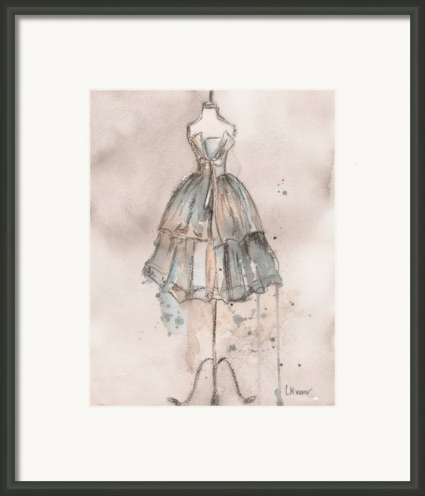 Strapless Champagne Dress Framed Print By Lauren Maurer
