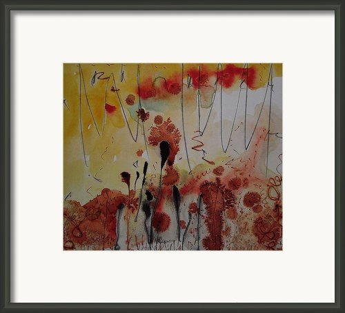 Straw And Seed Framed Print By Jorgen Rosengaard