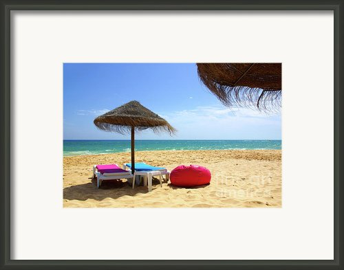 Straw Umbrellas Framed Print By Carlos Caetano