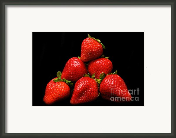 Strawberries On Velvet Framed Print By Andee Photography