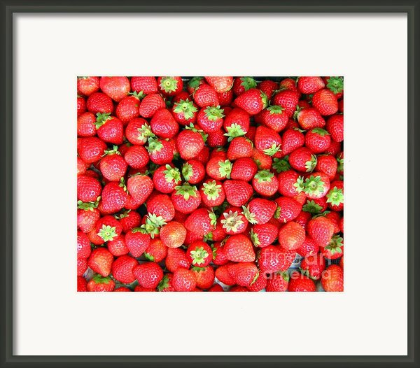 Strawberries  Framed Print By Yali Shi