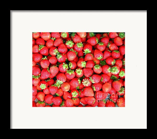 Strawberries  Framed Print By Yali Shi
