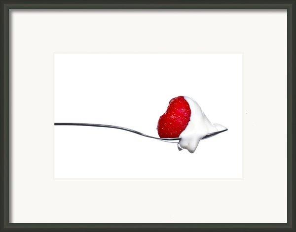 Strawberry And Cream Framed Print By Gert Lavsen