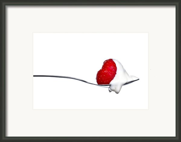 Strawberry And Cream Framed Print By Gert Lavsen