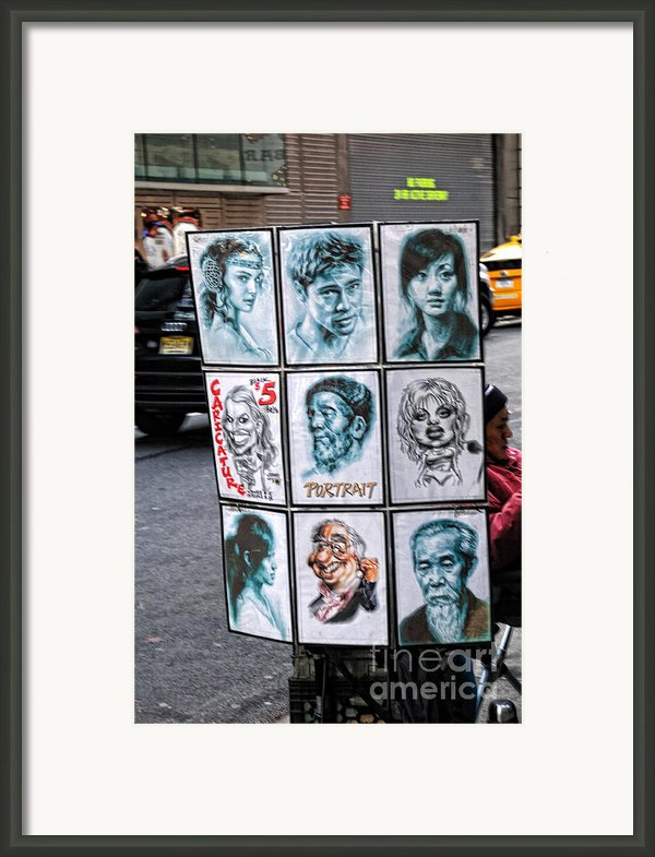 Street Art Nyc Framed Print By Edward Sobuta