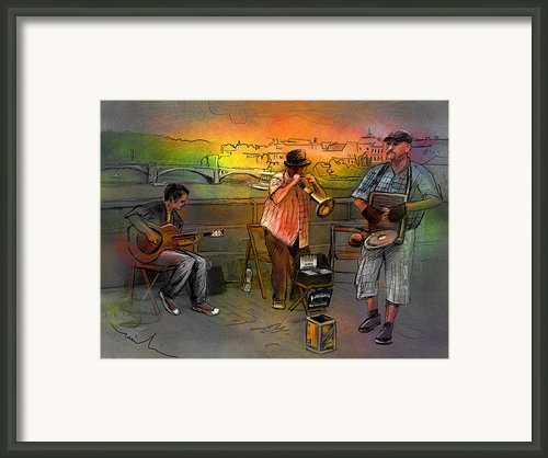 Street Musicians In Prague In The Czech Republic 03 Framed Print By Miki De Goodaboom