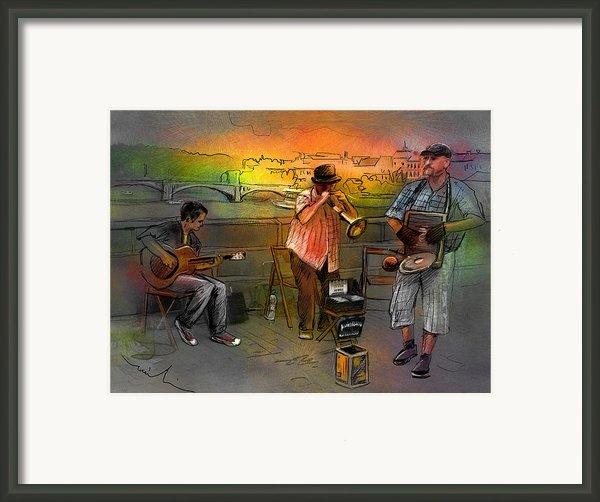 Street Musicians In Prague In The Czech Republic 03 Framed Print By Miki De Goodaboom