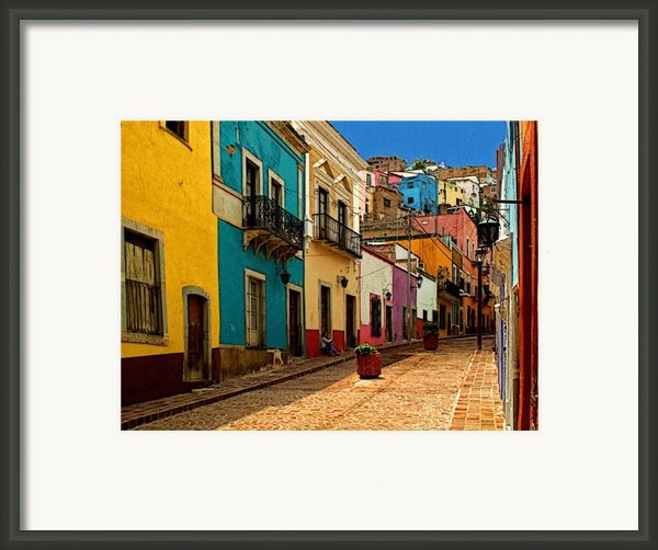 Street Of Color Guanajuato 4 Framed Print By Olden Mexico