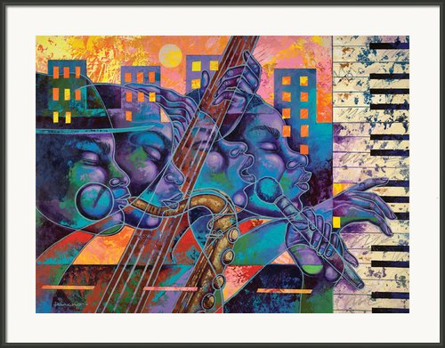 Street Songs Framed Print By Larry Poncho Brown