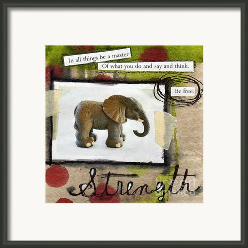 Strength Framed Print By Linda Woods