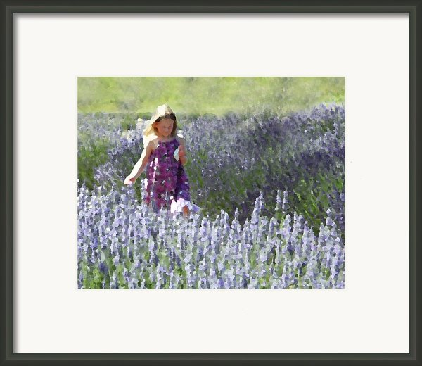 Stroll Through The Lavender Framed Print By Brooke Ryan