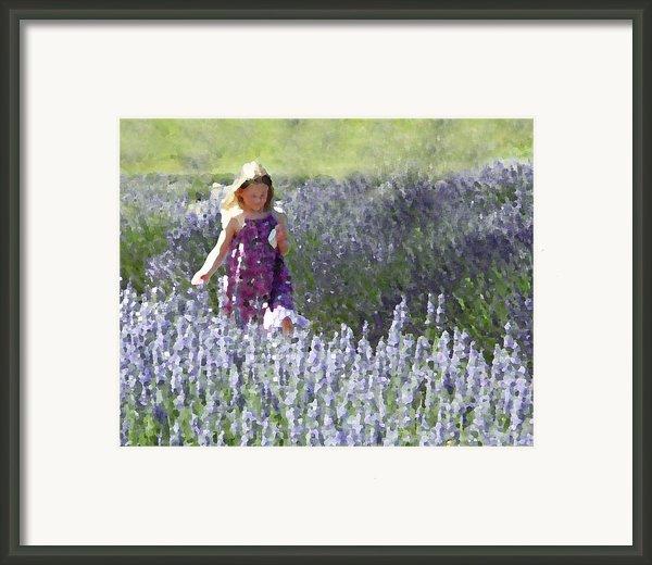 Stroll Through The Lavender Framed Print By Brooke Ryan