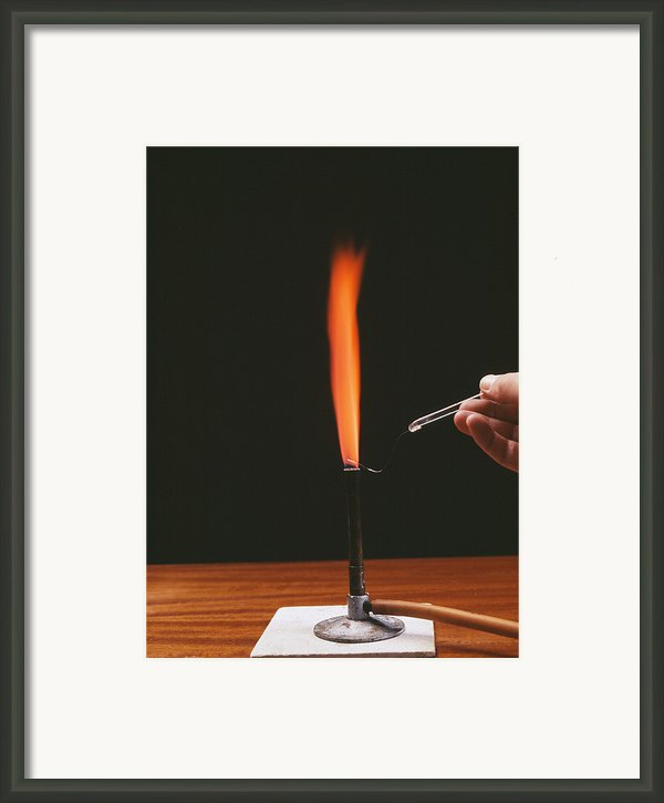 Strontium Flame Test Framed Print By Andrew Lambert Photography