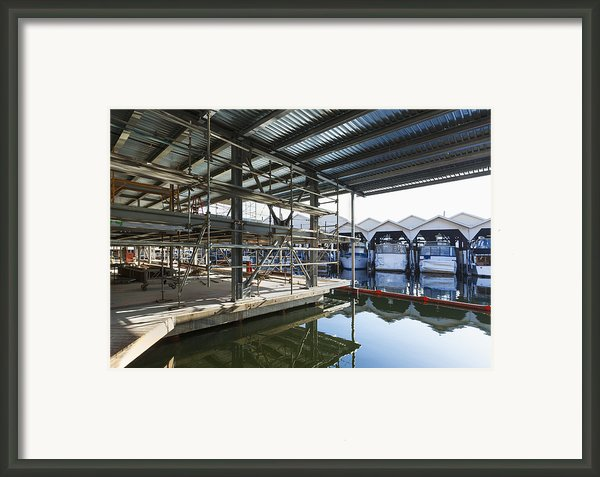 Structural Steel Construction Creating Framed Print By Don Mason