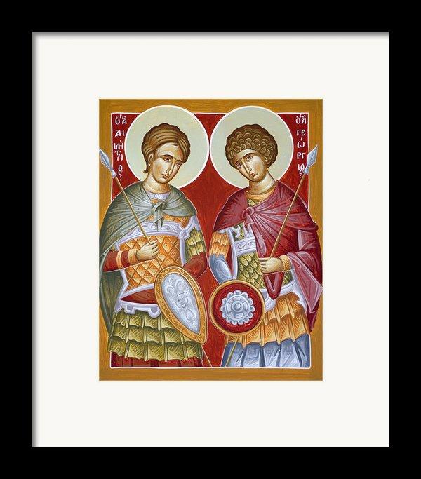 Sts Dimitrios And George Framed Print By Julia Bridget Hayes