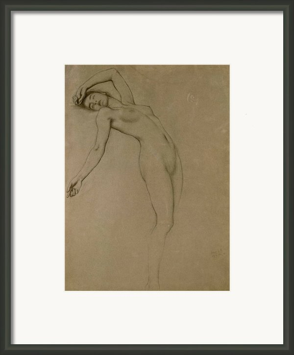 Study For Clyties Of The Mist Framed Print By Herbert James Draper