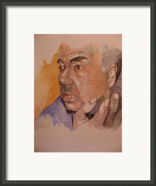 Study For Rev Joe Framed Print By Ray Agius