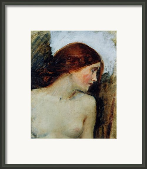 Study For The Head Of Echo Framed Print By John William Waterhouse
