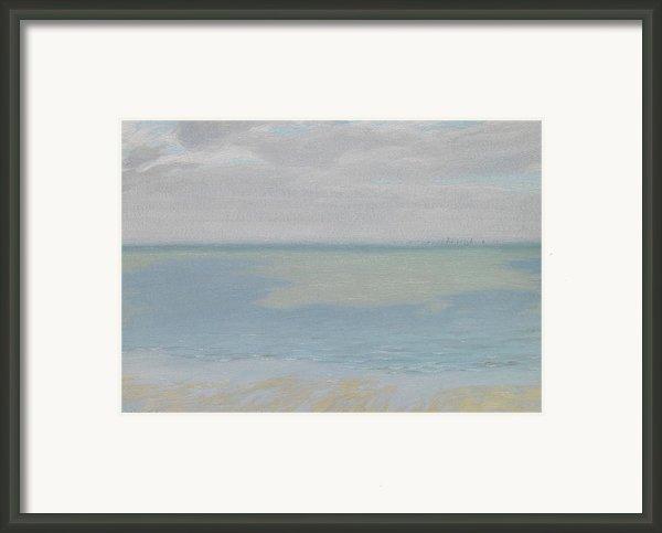 Study Of Sky And Sea Framed Print By Herbert Dalziel
