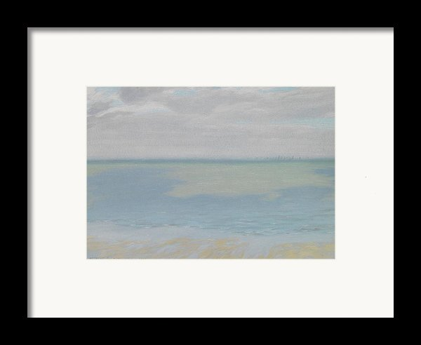Study Of Sky And Sea Framed Print By Herbert Dalziel