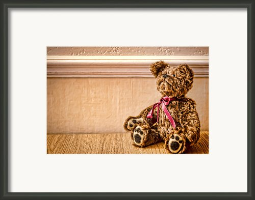 Stuffed Friend Framed Print By Heather Applegate