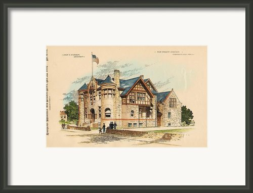 Sub Police Station. Chestnut Hill Pa. 1892 Framed Print By John Windrim