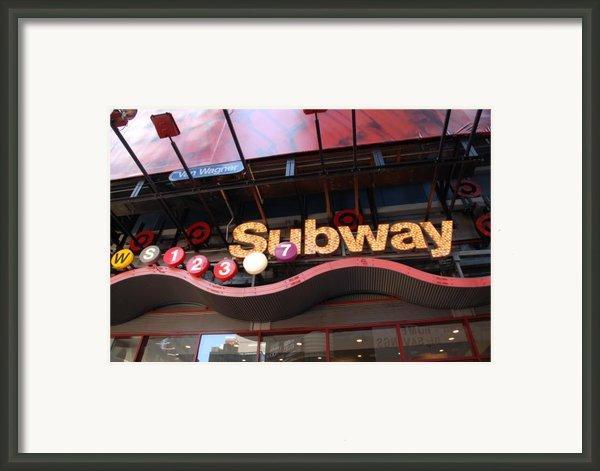 Subway Framed Print By Rob Hans