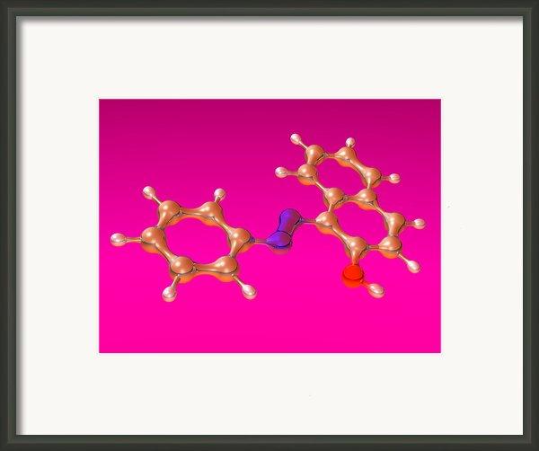 Sudan 1 Molecule Framed Print By Dr Mark J. Winter