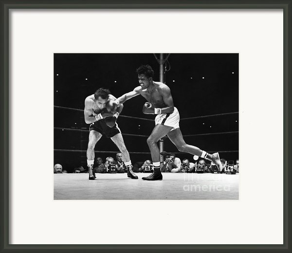 Sugar Ray Robinson Framed Print By Granger